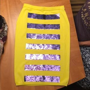 marc jacobs striped sequin jersey skirt